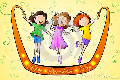 Girls celebrating Friendship Day