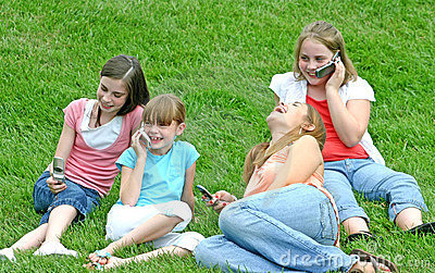 Girls on Cell Phones