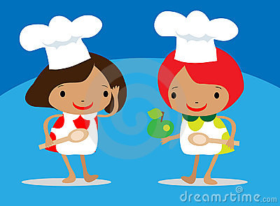 Girls Chef  Holding A Spoon
