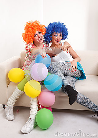 Girls clown.