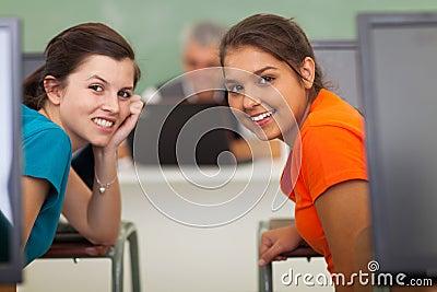 Girls computer class