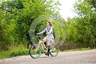 Girls Custom Bikes Parade in Kiev, Ukraine Editorial Image