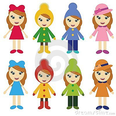 Girls in different clothes