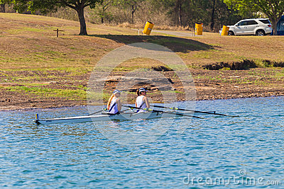 Girls Doubles Regatta Start Editorial Photo