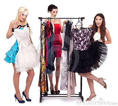 Girls in dresses boutique