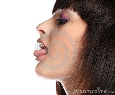 girls images for profile pic. Stock Photos: Girls face in profile