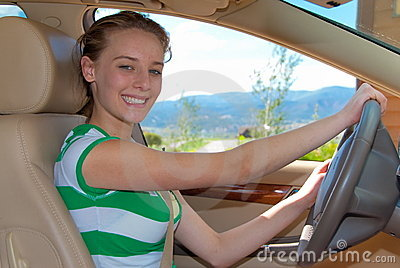 Girls first driving lessons