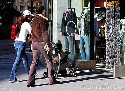 Girls Going Shopping Royalty Free Stock Photo - Image: 80395