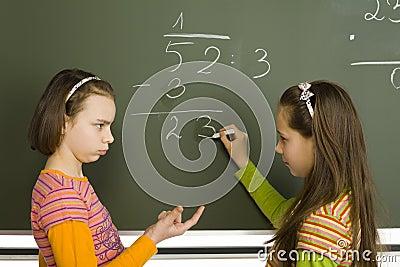 Girls at greenboard
