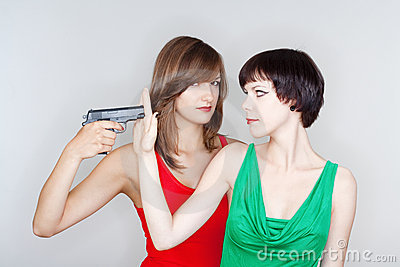 Girls with a gun