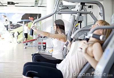 Girls In The Gym Royalty Free Stock Photos - Image: 24917338