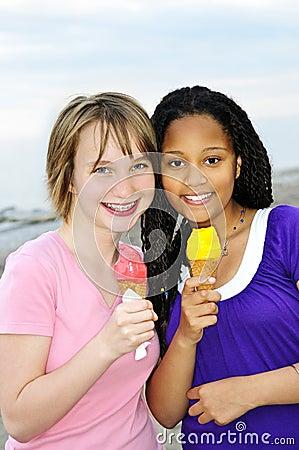 Free Girls Having Ice Cream Stock Photo - 10525980