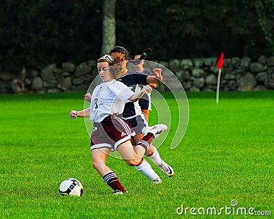 Girls High School Soccer Match.