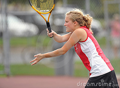 Girls High School Tennis Editorial Stock Image