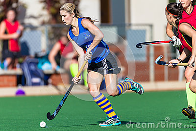 Girls Hockey Action Astro Editorial Image
