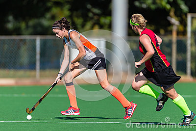Girls Hockey Game Action Astro Editorial Image