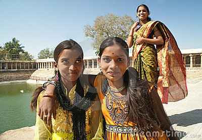 Girls of India Editorial Photo