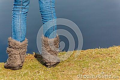 Girls Jeans Boots Lagoon Grass