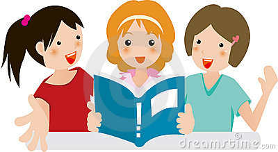 Girls joy in reading