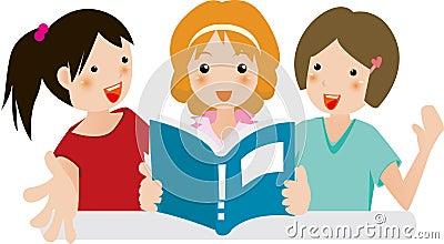 Girls joy in reading