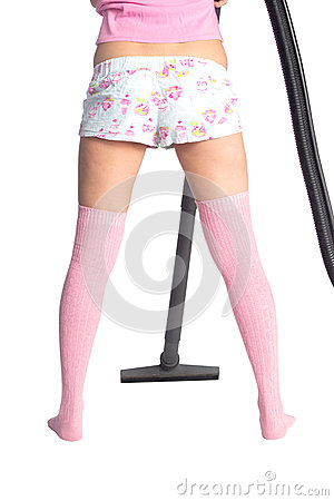Girls leg and broom