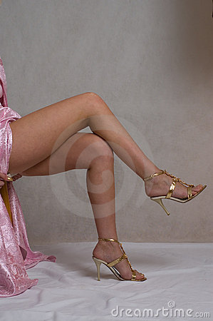 Free Girls Legs On Grey Stock Photo - 5094960