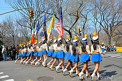 Girls Marching Editorial Stock Image