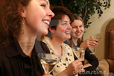 Girls with martini