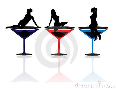 Girls and Martini Glasses