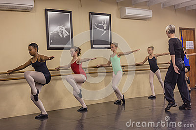 Girls Modern Dance Instructor  Editorial Stock Photo