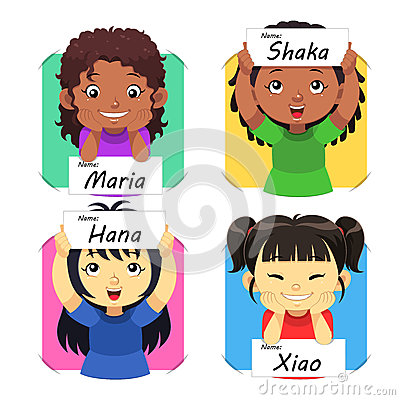 Girls Name 2 Vector Illustration