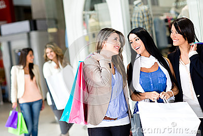 Girls out shopping
