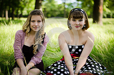 Girls in a park