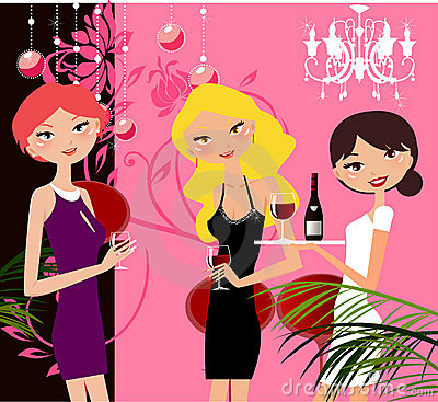 Girls in party
