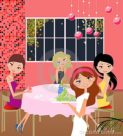 Free Girls Party At Home Royalty Free Stock Image - 9282906