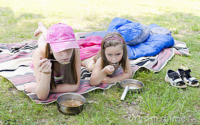 Girls on a picnic