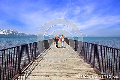 Girls on Pier