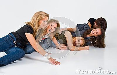Girls Playing Around