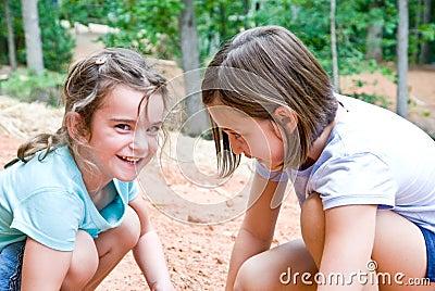 Girls Playing/Outside
