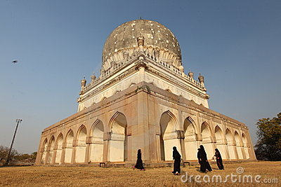 Girls playing at Qutb Shahi Tombs Editorial Photography
