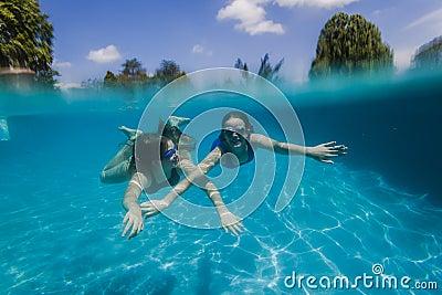 Girls Pool Underwater