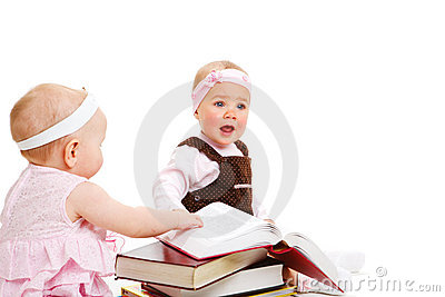 Girls reading books