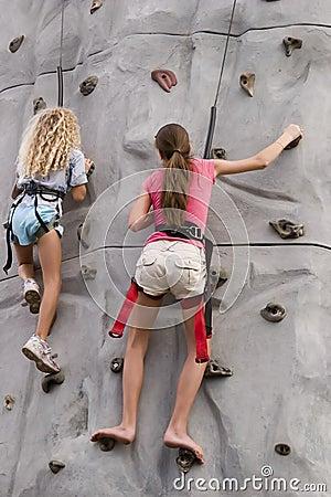 Girls rock climbing 2