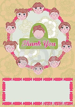 Girls Say Thank You Card_eps