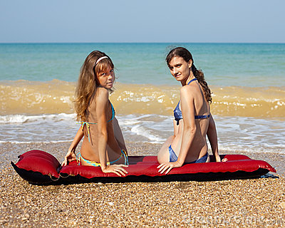 Girls at the sea