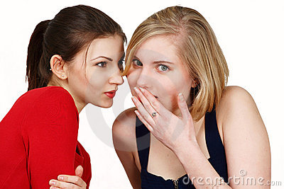 Girls sharing secret