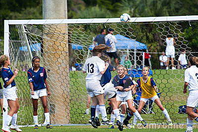 Girls soccer  Editorial Stock Image
