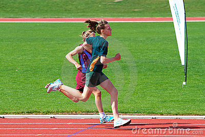 Girls in sports race Editorial Image