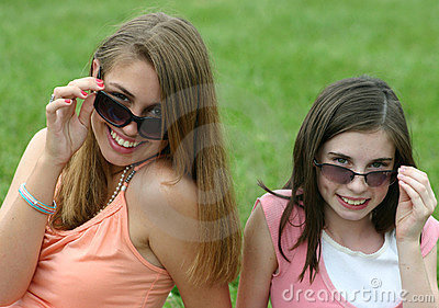 Girls With Sunglasses Close-up