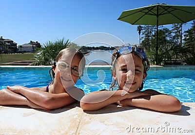 Girls at Swimming Pool